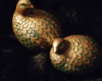 Pair Of Ceramic Quails