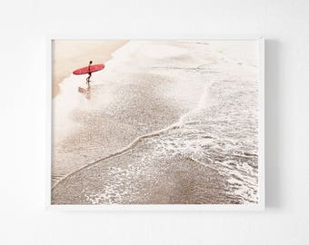 Surfer Print, Surfer Wall Art, Beach Surf Digital Print, Surf Print, Modern Beach Art, Surf Printable