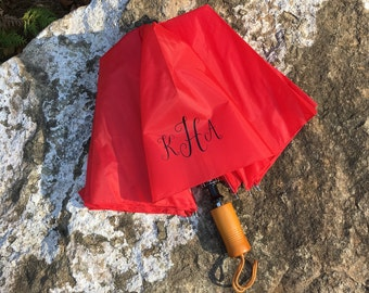 Personalized Adult Umbrella- Monogrammed Umbrella - Red, Navy, or Royal Blue