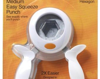 Fiskars 159070 Hexagon Medium Squeeze Punch