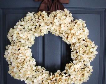 Hydrangea Wreaths | Winter Wreath | Wedding Wreaths | Front Door Wreaths | Outdoor Wreaths | Housewarming Gift | Wedding Gift Ideas