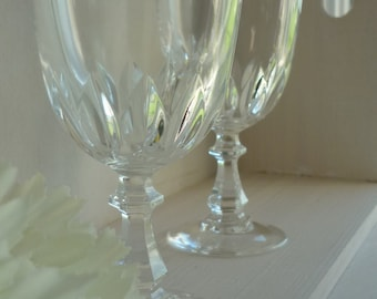 """Set of 4, J G Durand Cristal d'Arques """"Luxembourg"""" vintage cordial glasses, wedding, housewarming, anniversary dinner party celebration"""