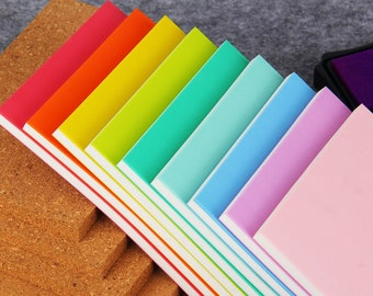 9 Pcs Rubber Block SET - DIY Layer Rubber Blocks - Rainbow Rubber Stamp - Stamp Carving - 15cm x 10cm - MR003