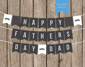 Bright image with happy father's day banner printable
