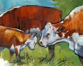 Having a Mooment Oil Painting