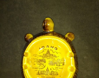 Idaho tourist souvenir turtle ashtray