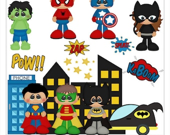 DIGITAL SCRAPBOOKING CLIPART - Little Hero's