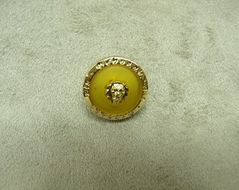 Acrylic button - 17 mm - golden yellow background