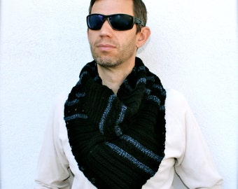 mens scarf crochet pattern  mens crochet scarf pattern crochet cowl pattern unisex scarf crochet pattern Willow Flats Convertible Scarf