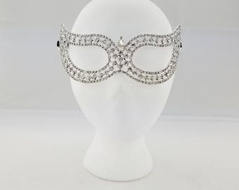 LUXURY Crystal Collection, Crystal Mask, New Years Mask, Fine Jewelry Masquerade Mask, Masquerade ball mask,Crystal Venetian Masquerade Mask