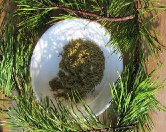 Pine Needle Tea - Wild Harvested Powdered Virginia Pine, Pinus virginiana, Natural Vitamin C