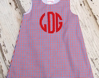 Girls Jumper Tri CK Red/Blue/White Personalize Outfit