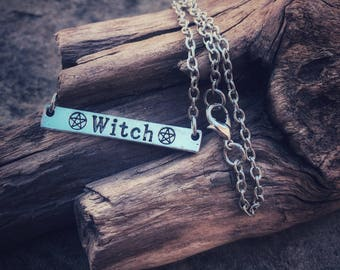Witch necklace, The Closet Pagan, witch jewelry