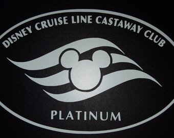 Disney Cruise Line Castaway Club Platinum Vinyl Decal