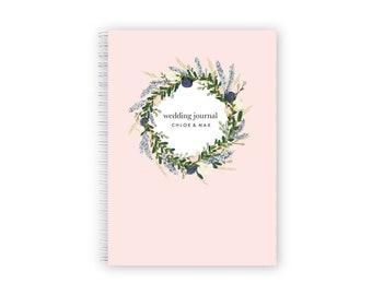 Personalized Wedding Journal Bridal Shower Journal Wedding Notebook Planner Monogram Wedding Journal Bridal Shower Gift  Engagement Gift