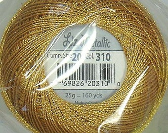 Lizbeth Metallic Thread: #310 Gold