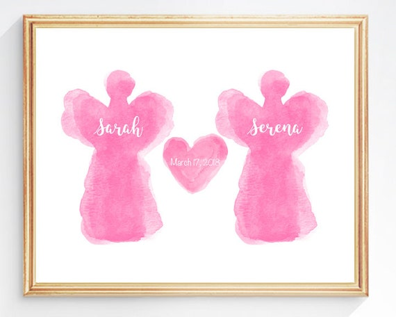 Guardian Angel Print for Kids, 8x10 Angel Watercolor
