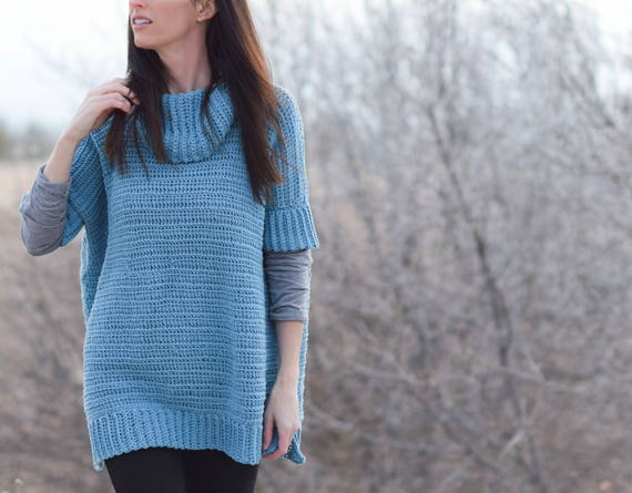 Easy Lounge Around Crochet Pullover Pattern Crocheted Poncho