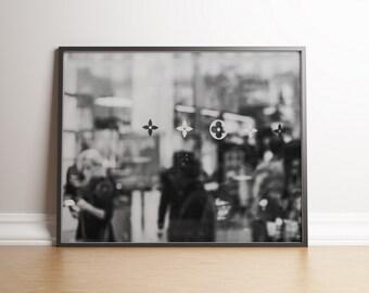 Champs-Élysées, Paris, France / Landscape, Black & White / Wall art decor, print, photo, printable, photography, digital download