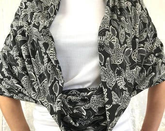Night Birds Double-Decker Infinity Scarf by So-Fine