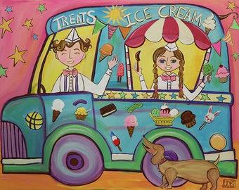 Here Comes The Ice Cream Truck! 5x7