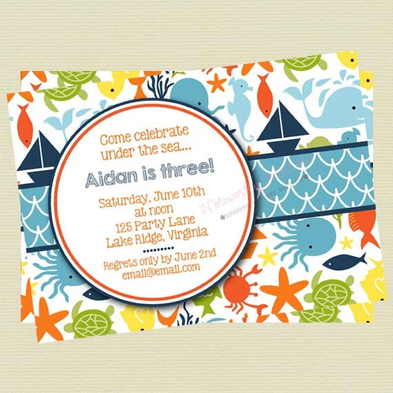 under the sea birthday invitations koni polycode co