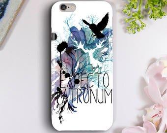 Expecto Patronum Hedwig Watercolour Case for iPhone 5S, iPhone 6/6S, iPhone 7, iPhone 7 Plus, iPhone 8, Samsung Galaxy S7, Galaxy S8