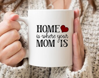 Home Is Where Your Mom Is -  Ceramic Coffee Mug - Tea Cup - Gift For Mom