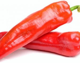 Red Long Sweet pepper 450 seeds,organic Red long peppers seeds,non gmo ,greek traditional seeds 2.5gr Approx 450seeds