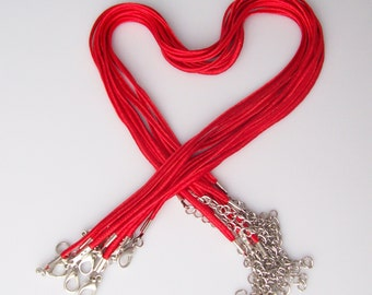 """Red """"Bailey"""" Necklaces - 17-19"""" inch 3mm - Choose 10, 25 or 50"""