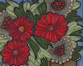 brown vase archival print