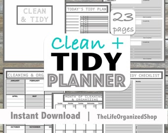 Cleaning Planner / Cleaning Schedule / Clean & Tidy Planner / Household Planner - From the Minimalist Collection