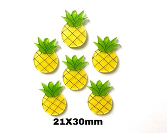 6 glitter pineapple planar resin