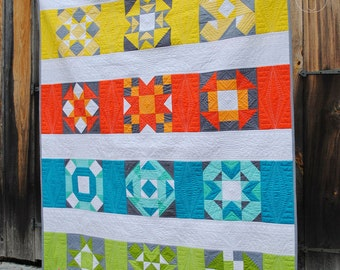 Modern Block of the Month Quilt Pattern ~ The Power of 9