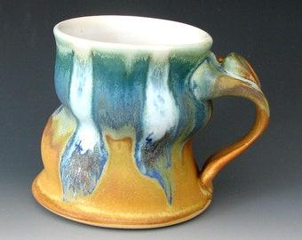 LARGE COFFEE MUG #8 - Ceramic Mug - Stoneware Mug - Pottery Mug - Tall Mug - Beer Mug - Handmade Mug - Tea Mug - Studio Pottery