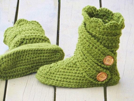 Crochet Woman\'s Slipper Pattern Boots Crochet Pattern