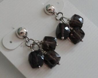 Smokey Quartz Earrings   -   #407
