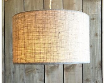Pendant lamp shade etsy natural hessian light shade lamp shade 25cm 30cm 35cm 40cm 45cm 50cm 60cm 70cm aloadofball Choice Image