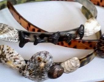 Handmade Animal Print Genuine Shell Hairband's