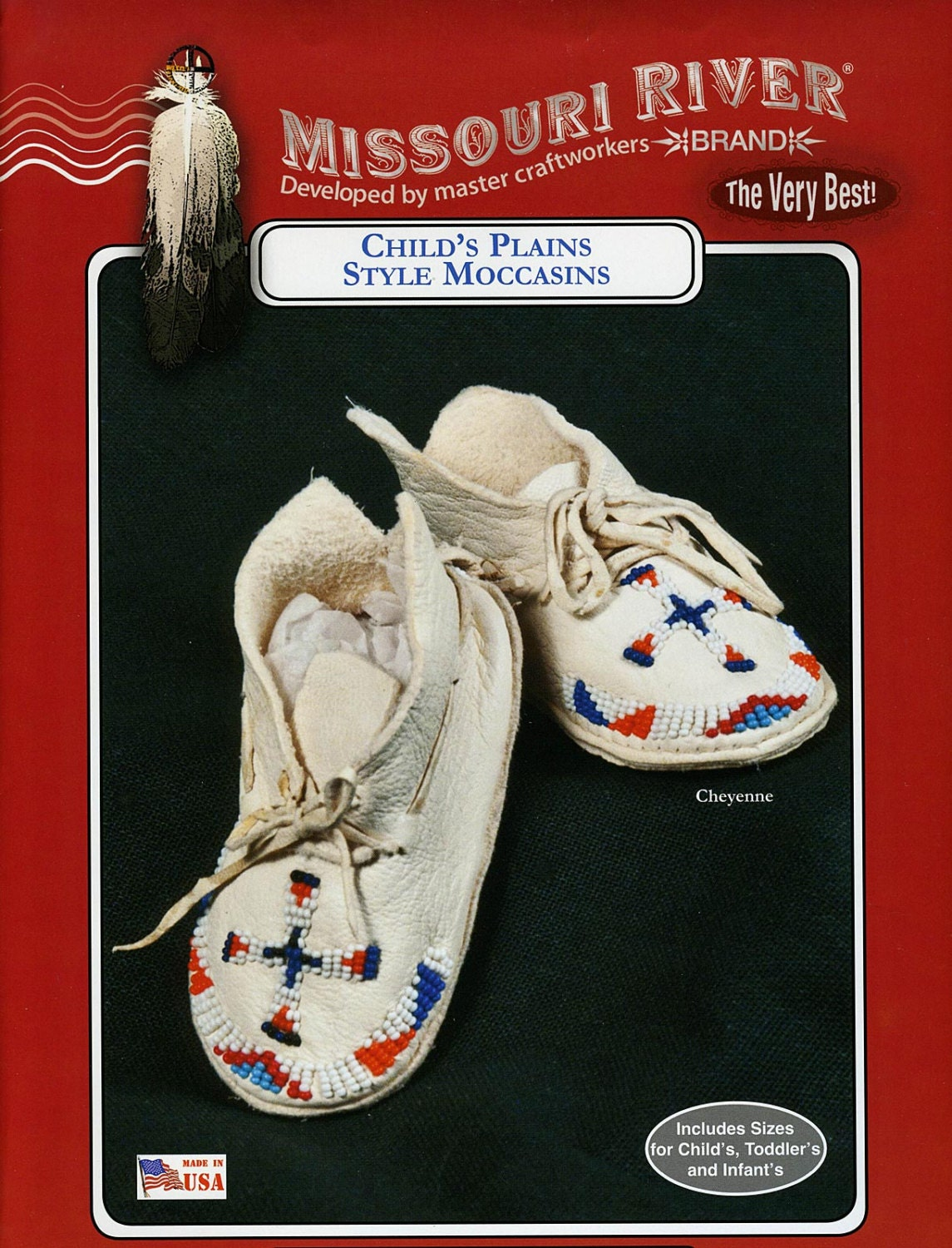 Missouri River Plains Style Indian Moccasin Sewing Pattern
