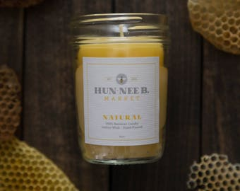 Beeswax Candles // All Natural //Hand Poured // Mason Jar Candles // Small Batch
