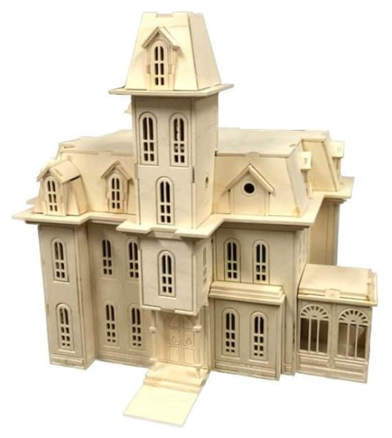 addam's family house model kit laser engraved wooden