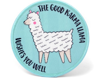 Llama Embroidered Patch / Iron On Patch / Patches For Jackets / Stocking Filler Stocking Stuffer / Alpaca Patch / Cute Patches Secret Santa