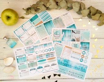 Weekly Sticker Kit Full Box stickers Planner Stickers Sticker Pack Stickers Planner Journal Stickers Watercolor Stickers Sticker Sheet ARIEL