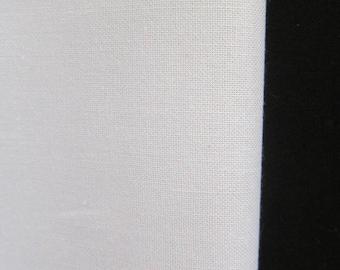 White plain 100% cotton fabric
