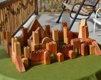 Castle Blocks, Redwood, Fortress, Heirloom Handmade