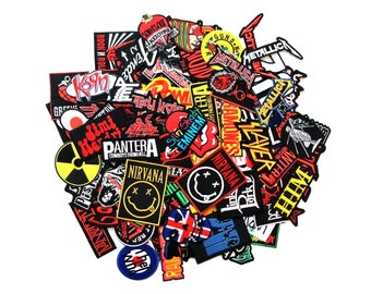 Metal Rock Heavy Retro Music Band Indy Emo Sew Iron On Embroidered Patch Applique Wholesale Random