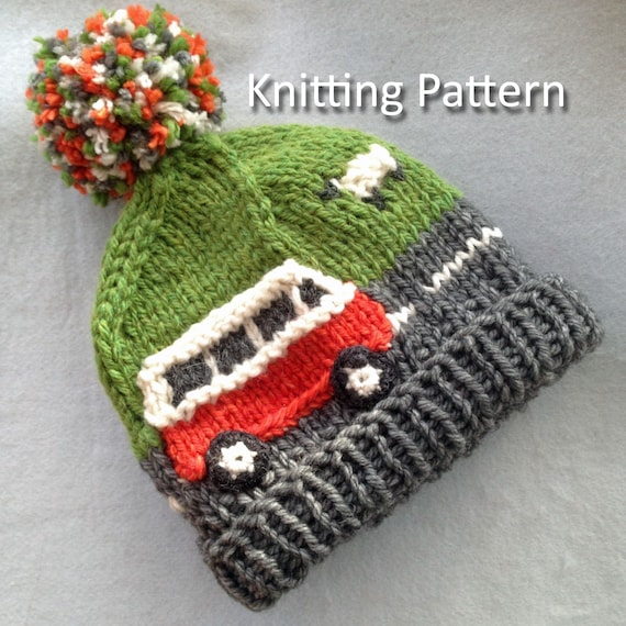 Pdf Knitting Pattern For A Super Chunky Campervan Beanie