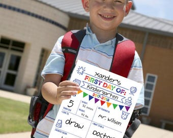 First Day of School 2017/2018 {8.5 x 11 Printable}