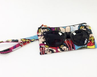 Wonder Woman Girls' Zippered Pouch~ Little Lia Sunglasses Pouch ~ Free Shipping in US